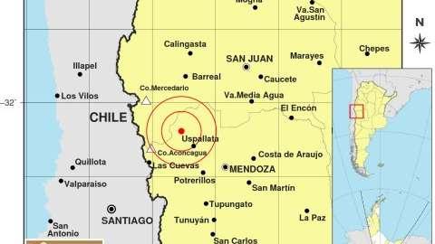Fuerte temblor con epicentro en Uspallata