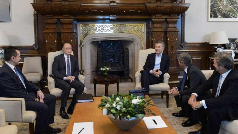 Macri se reunió con el titular del Banco Mundial, Jim Yong Kim