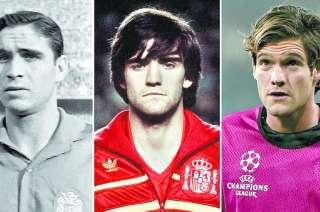 Tres generaciones diferentes en la Selección. Marcos Alonso continuará el 'hábito' familiar y vestirá la Roja como su padre y su abuelo.