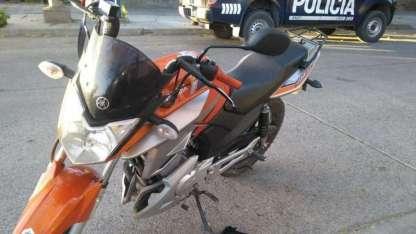 La moto secuestrada en Godoy Cruz.