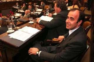 Leonardo Hisa, cuando fue senador. Ahora está preso.