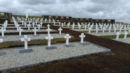 Cementerio de Darwin de las Islas Malvinas.