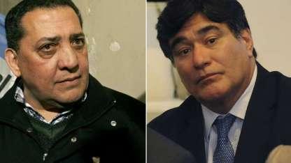 Los ex funcionarios kirchneristas Luis D'Elía y Carlos Zannini.