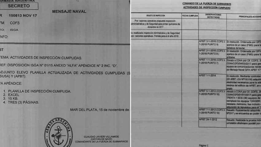 Nuevas revelaciones del ARA San Juan complican a la Armada ya Aguad