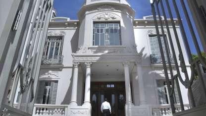 La fachada de la hermosa casona reconstruida, que se abrirá al público a partir del jueves.
