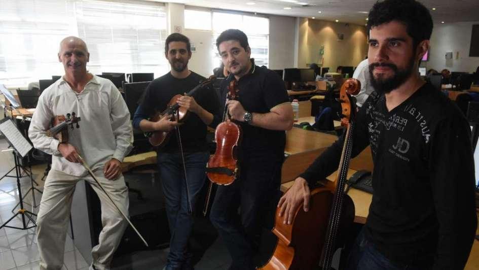 Música clásica en la Redacción de Los Andes con el cuarteto Ludwig