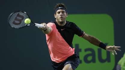 Si gana el torneo, Delpo quedará 3ro en el ránking ATP por primera vez. / AP