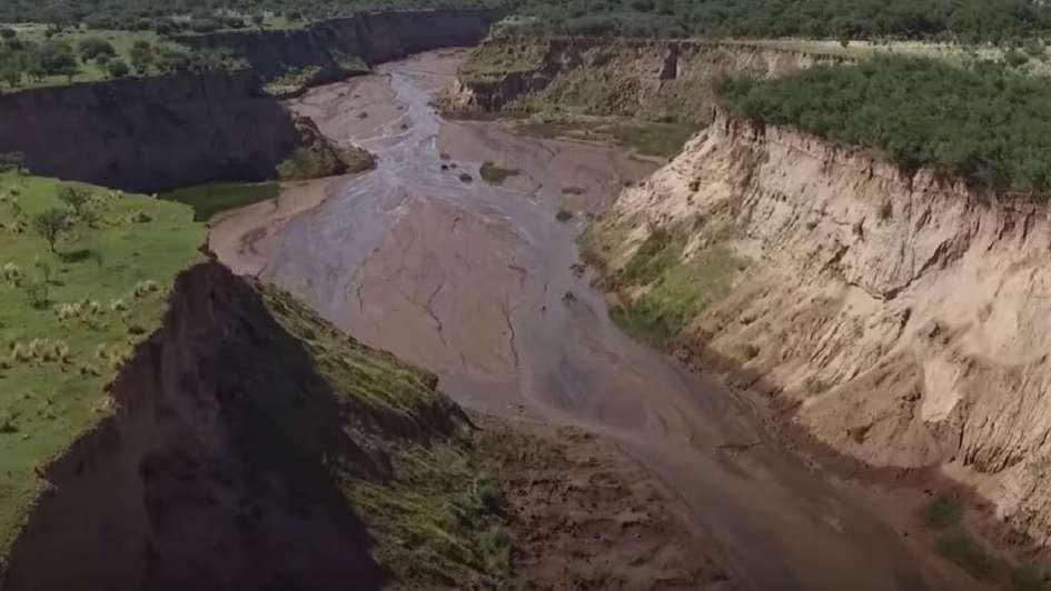 El asombroso caso del río puntano que apareció
