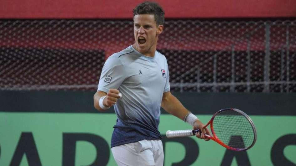 Copa Davis: Schwartzman reaccionó e igualó la serie ante Chile