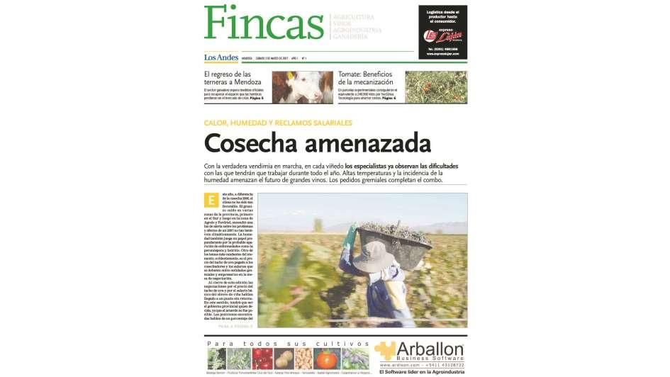 El suplemento Fincas de Los Andes, declarado de interés por Diputados
