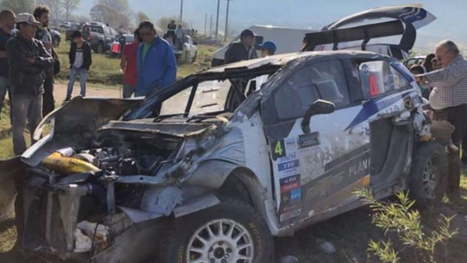 Tremendo accidente de Nalbandian en el Rally de Tucumán