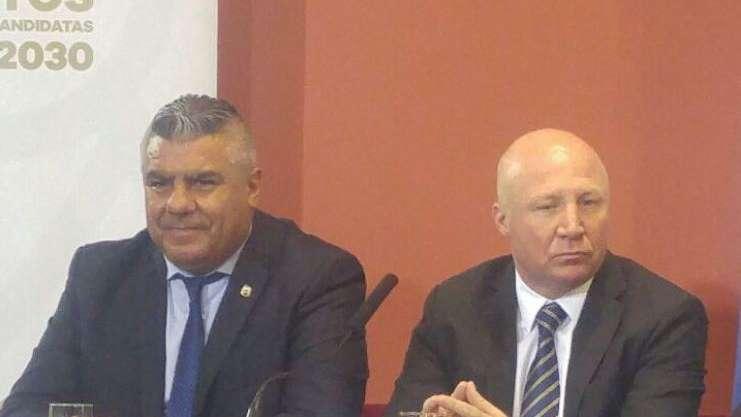 Chiqui Tapia recibió a Gianni Infantino