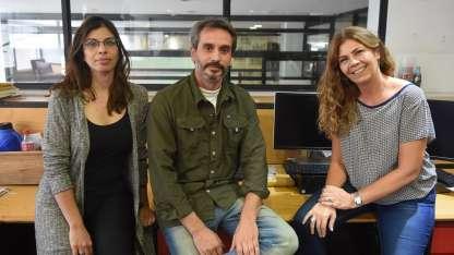 Mariana Guzzante (productora y guionista de la película y periodista en Diario Los Andes) y el director Mariano Donoso.