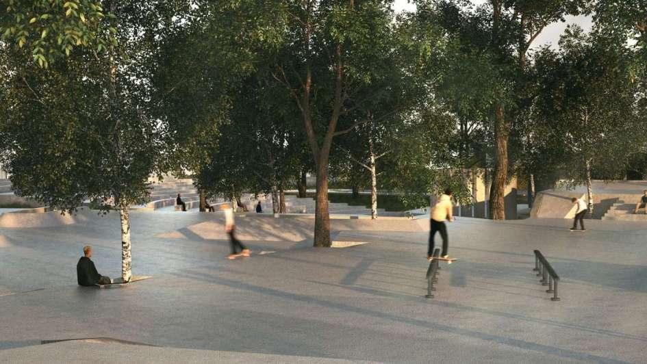 El espacio de deportes urbanos ya va tomando forma en el parque O´Higgins