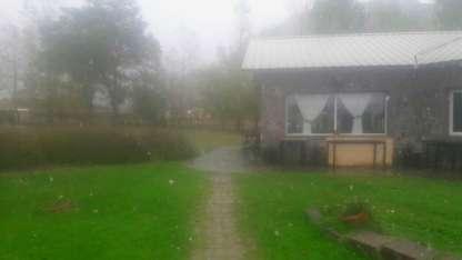 La precipitación fue suave, pero llamó la atención de los habitantes de Tunuyán.
