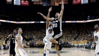 Los Spurs de Ginóbili se medirán frente a Golden State, campeón vigente / Archivo