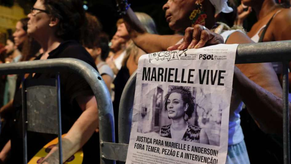 Homenajean a Marielle Franco en Rio a un mes de su asesinato