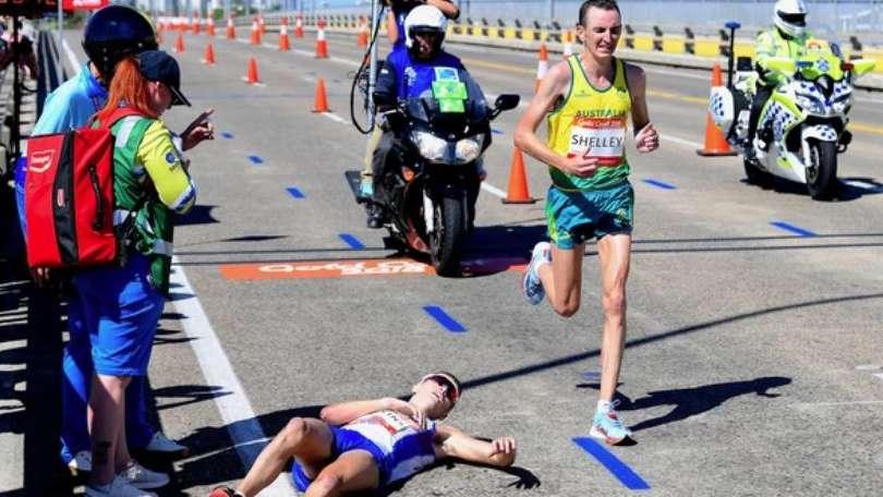 Maratonista escosés se desplomó de agotamiento en plena competencia en Australia