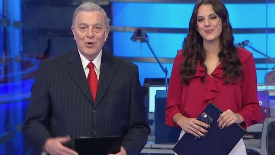 Santo Biasatti debutó en Crónica y...¡Sonrió!