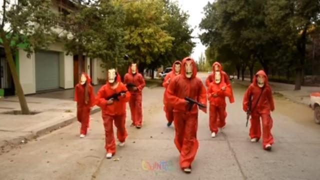 Mendocinos filmaron un video de la Casa de Papel y no pueden creer el éxito que tuvieron