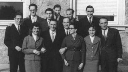 Antonio Gentile, junto a sus compañeros del Instituto Balseiro.