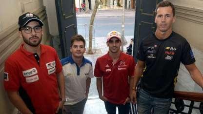 Visitaron la redacción de Los Andes los pilotos Julián Santero, Leonel Pernía, Berni Llaver y Facundo Chapur.