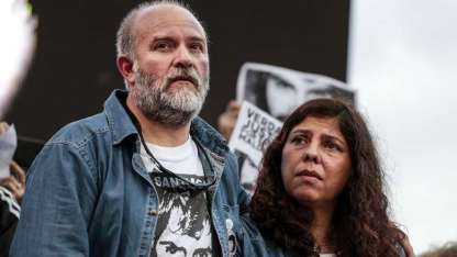 Sergio Maldonado y su mujer. La familia recibe asistencia del Estado.