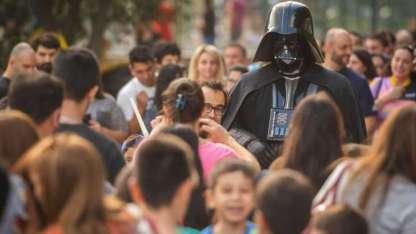 Darth Vader entre el público