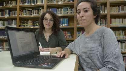 Ailén Rojos cursa el 4to año de Ingeniería Química, Malena Casas está en 5to de Sistemas.