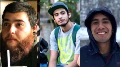 Javier Salomón Aceves, Marco Ávalos y Daniel Díaz, los jovenes asesinados.