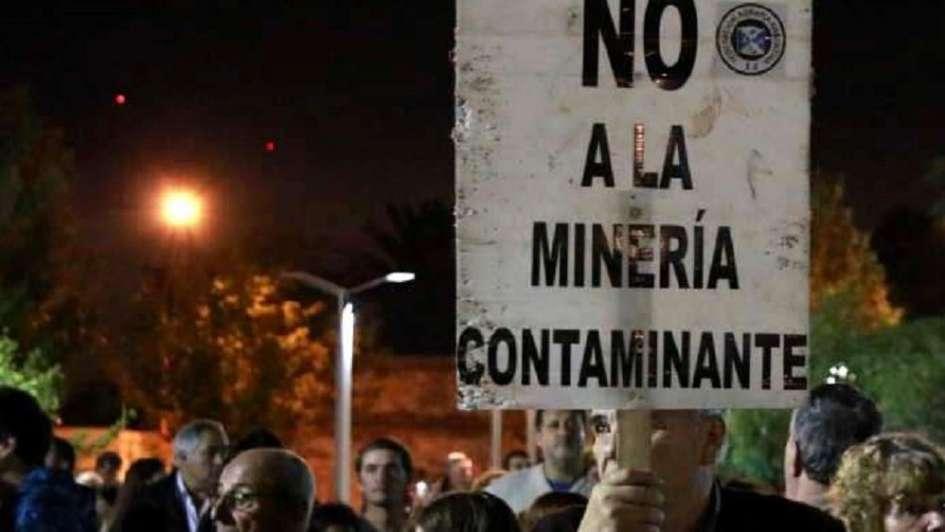 protesta en Alvear
