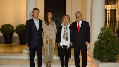 Anoche, ambos presidentes cenaron en la residencia de Olivos .