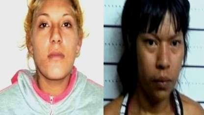 Dahiana Albornoz (22) y Carolina Segundo (21).