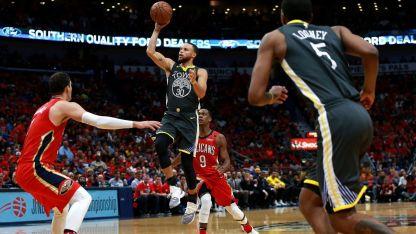 Curry volvió a su nivel y marcó 23 puntos.