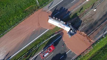 El accidente bloqueó la circulación de la ruta en ambos sentidos.