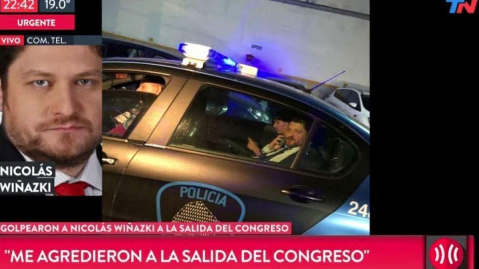 El periodista Nicolás Wiñaski fue agredido a la salida del Congreso