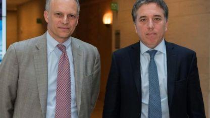 El jefe de la división del Hemisferio Occidental del FMI, Alejandro Werner, y el ministro Nicolás Dujovne.