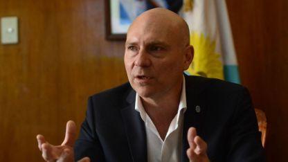 El ministro Dalmiro Garay.
