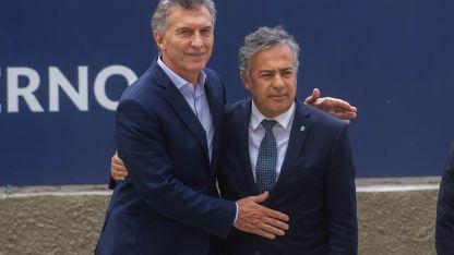 Mauricio Macri junto a Alfredo en su última visita a Mendoza.
