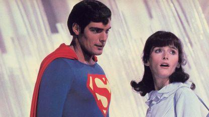 Margot Kidder y Christopher Reeve en Superman