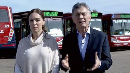 Macri anunció hoy nuevos tramos del Metrobus en el conurbano bonaerense, junto a la gobernadora María Eugenia Vidal.