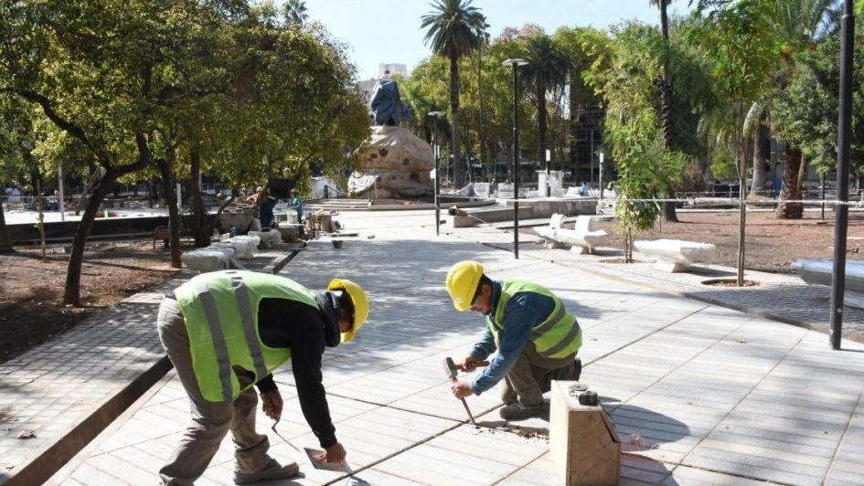 Capital planea una fiesta de tres días para inaugurar la remodelada plaza San Martín