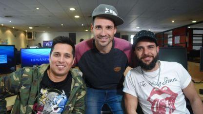 Martín, Diego y Juan en la redacción de Los Andes.