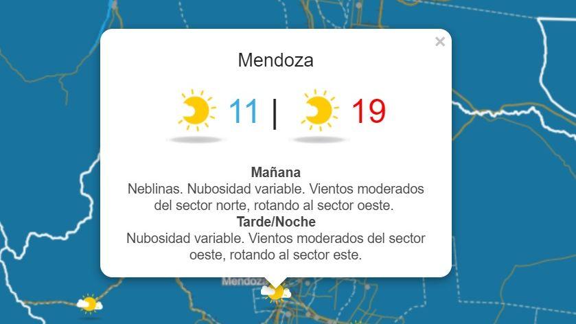 Mañana el frío dará una tregua: subirá la temperatura en Mendoza