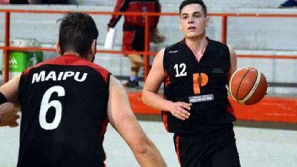 Enzo Fattori fue la gran estrella de Maipú (35 puntos).