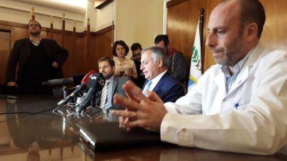 El doctor Miguel Marino junto al procurador Alejandro Gullé y el fiscal Alejandro Iturbide.