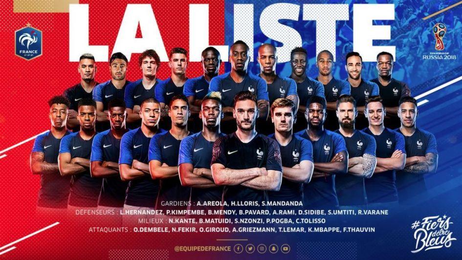 Francia presentó su lista para el Mundial con una ausencia de peso
