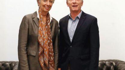 La jefa del FMI, Christine Lagarde, con Mauricio Macri, durante su reciente visita al país.