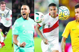 Göetze, Benzema, Paolo  Guerrero y Dani Alves, cuatro de las súper figuras que por distintos motivos no estarán en Rusia.