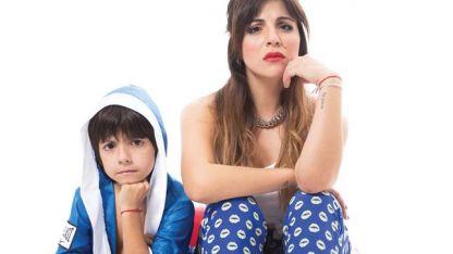 Gianinna Maradona y su hijo